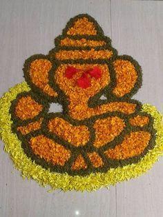 Simple Flower Designs for Rangoli