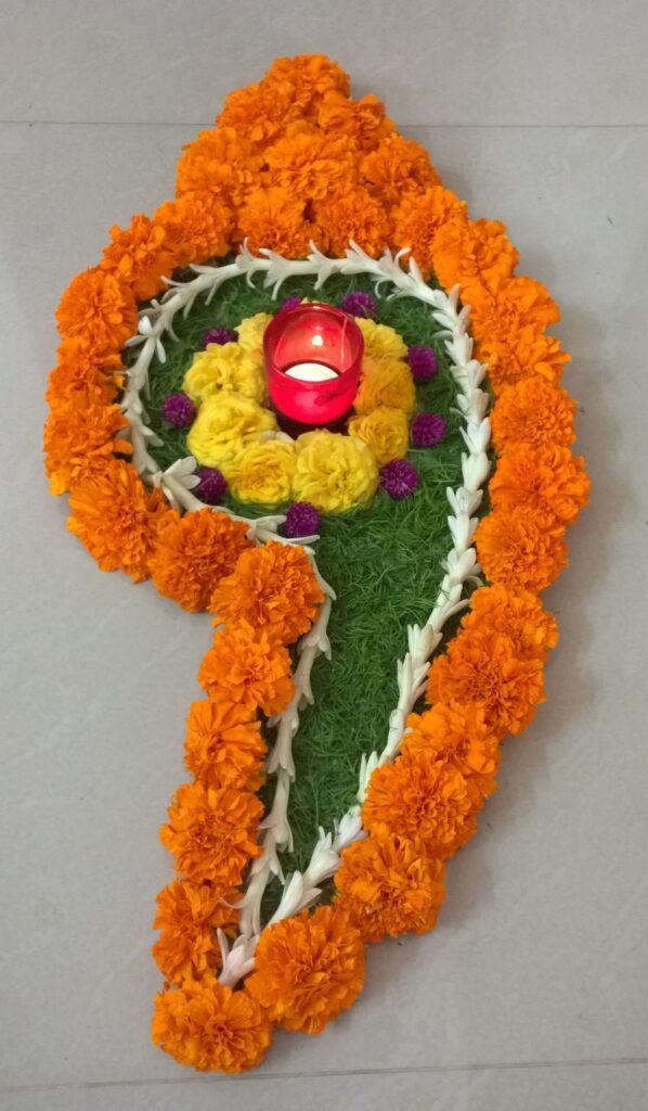 simple folwer Rangoli Designs