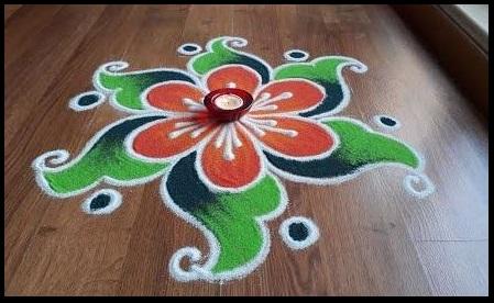 Simple and Easy Rangoli Design for Diwali